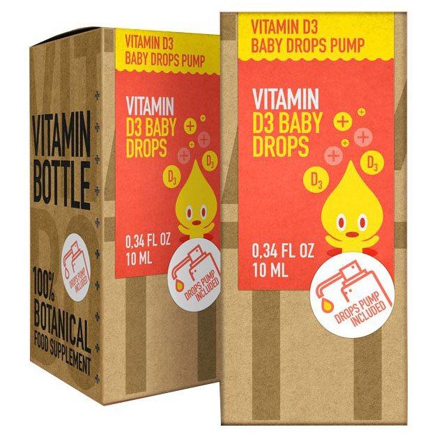 Vitamin Bottle D3-vitamin Baby csepp - 10ml