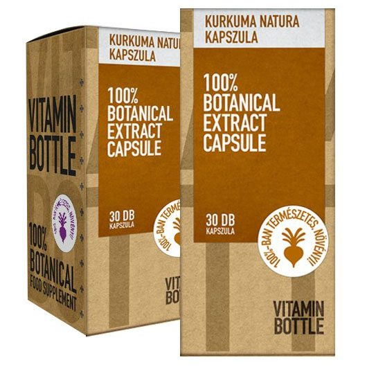 Vitamin Bottle Kurkuma natura porkapszula - 30db
