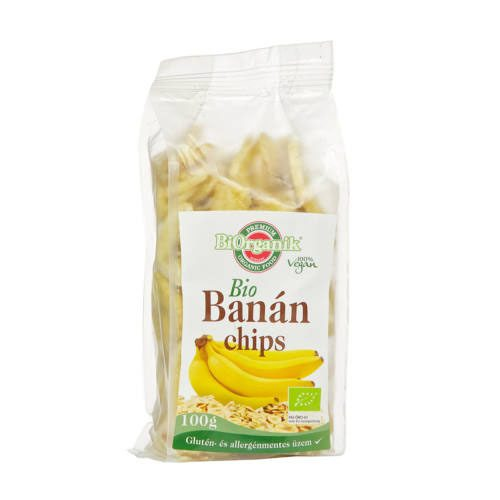 Biorganik Bio banánchips - 100g