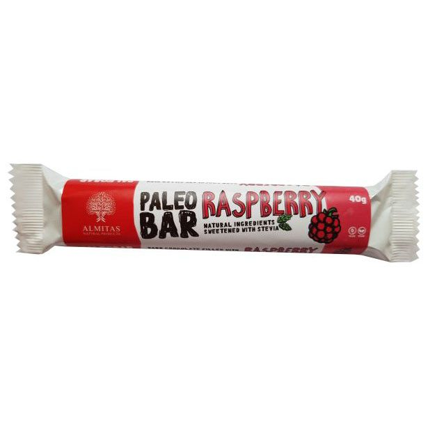 Almitas Paleo étcsokoládé szelet málna ízű krémmel - 40g