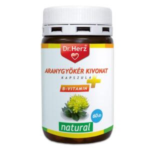 Dr. Herz Aranygyökér + B-vitamin kapszula – 60db
