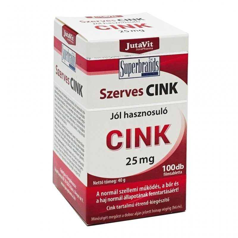 Jutavit Szerves Cink tabletta - 100db