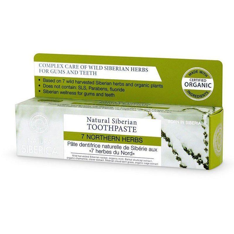 Natura Siberica 7 Northern Herbs fluoridmentes 7 gyógynövényes fogkrém - 100g
