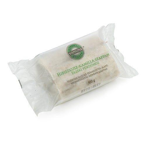 Yamuna Hidegen sajtolt Hibiszkusz-kamillás zacskós szappan - 110 g