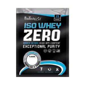 BioTech USA 100% IsoWhey ZERO Lactose Free banán 10x25g - 10x25g