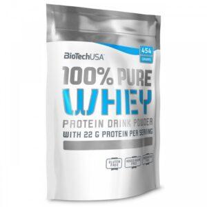 BioTech USA Pure Whey karamell-cappuccino – 454g