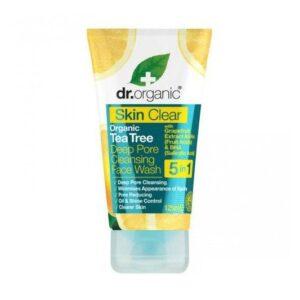 Dr. Organic Skin Clear Mélytisztító 5 az 1-ben arclemosó - 125ml