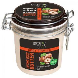 Organic Shop Bőrerősítő testvaj bio sheavaj és mogyoró kivonattal - 350ml
