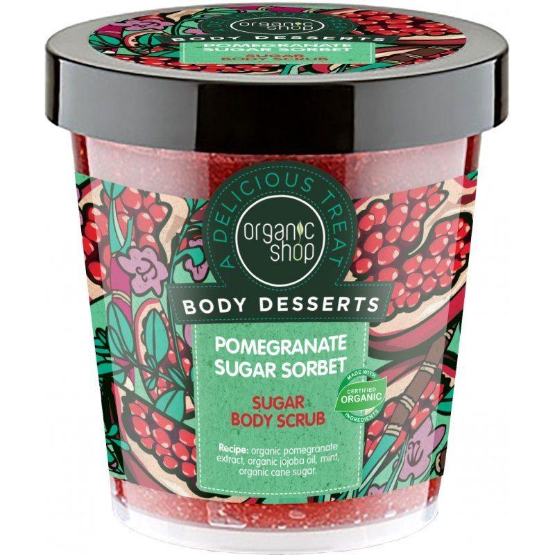 Organic Shop ''Cukros gránátalma'' testradír - 450ml