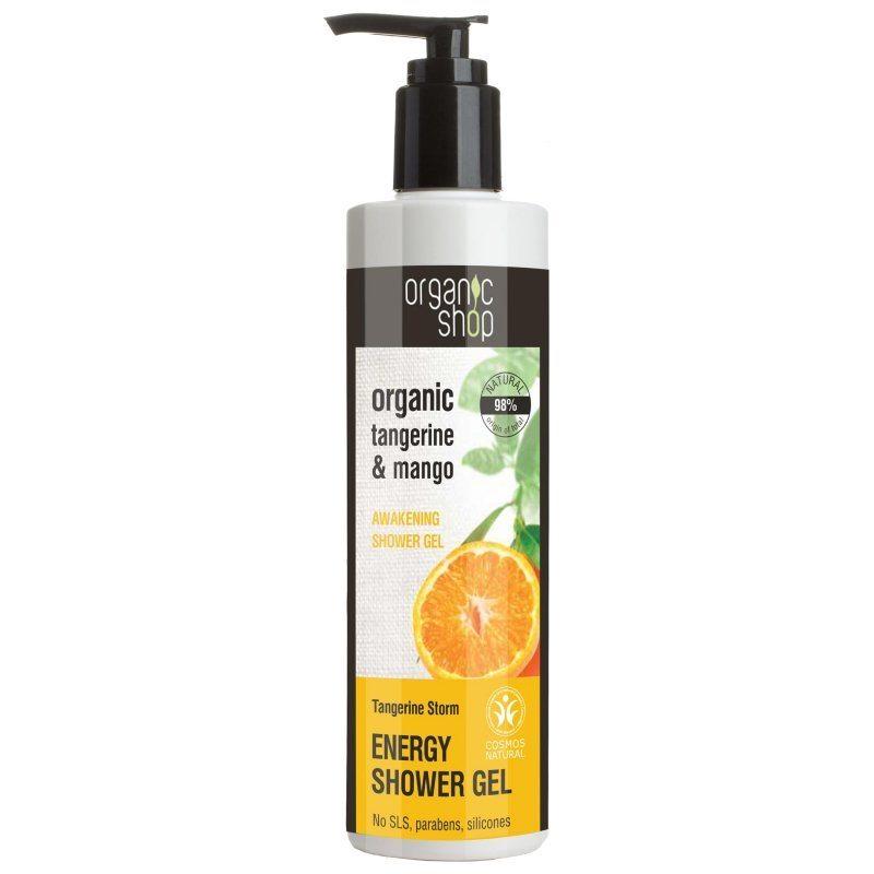 Organic Shop Ébresztő tusfürdő bio mandarin és mangó kivonattal - 280ml