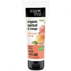 Organic Shop Gyengéd bőrmegújító arcradír bio sárgabarack és mangó kivonattal - 75ml