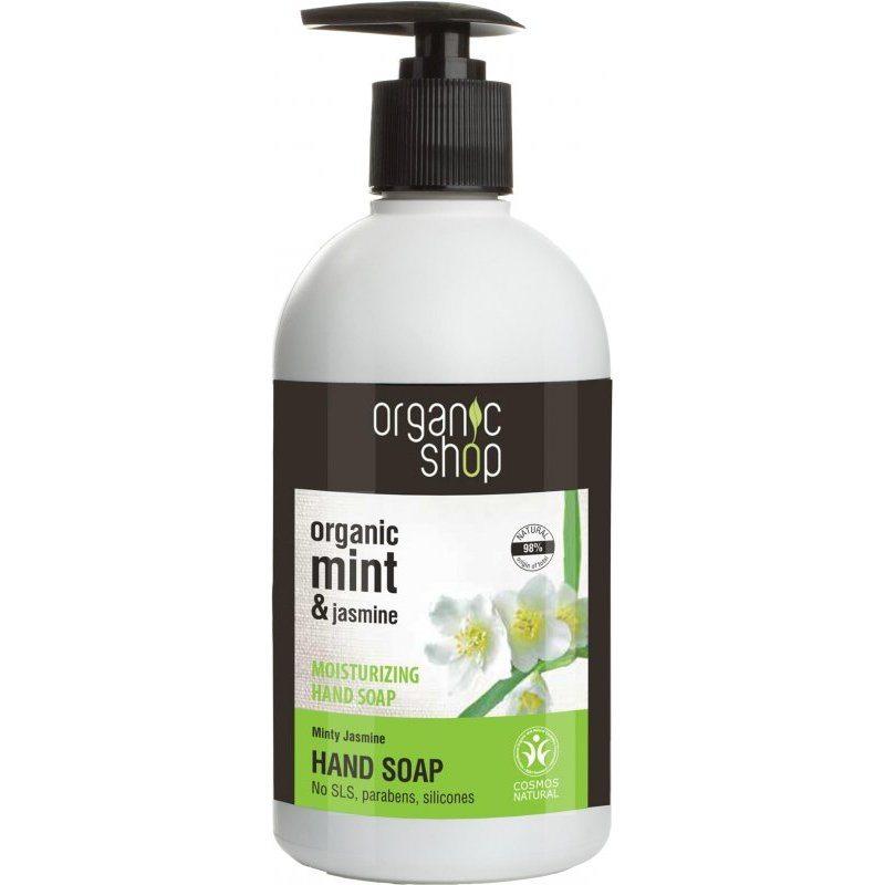 Organic Shop Hidratáló folyékony kézmosó szappan bio menta és jázmin kivonattal - 500ml