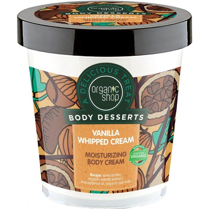 Organic Shop ''Vaníliahab'' hidratáló testápoló - 450ml