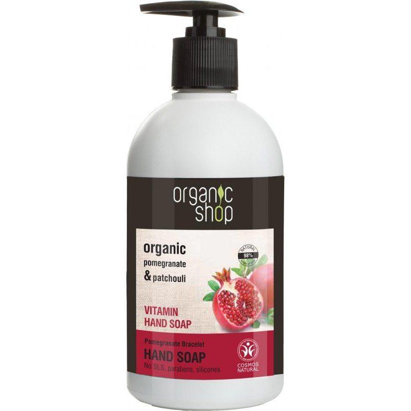 Organic Shop Vitaminos folyékony kézmosó szappan bio gránátalma kivonattal - 500ml