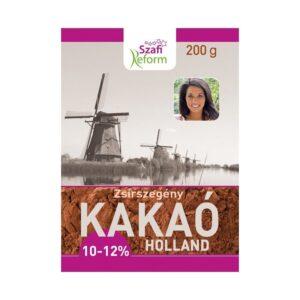 Szafi Reform Zsírszegény Holland kakaópor 10-12% - 200gSzafi Reform Zsírszegény Holland kakaópor 10-12% - 200g