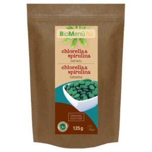 Biomenü Bio Chlorella és Spirulina tabletta - 125g
