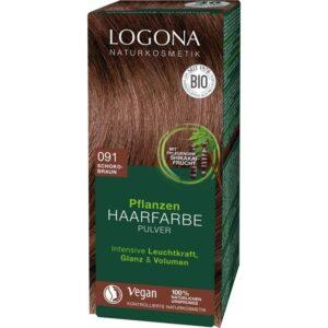 Logona Növényi hajfestékpor csokoládébarna - 100g