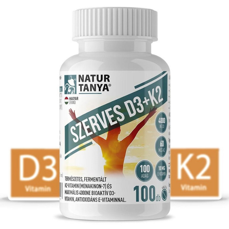 Natur Tanya Szerves D3+K2 vitamin tabletta – 100db