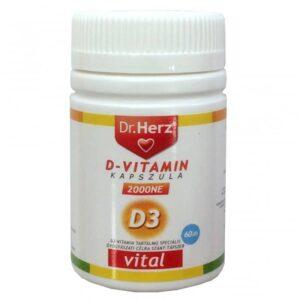 Dr. Herz D-vitamin 2000 NE tabletta - 60db