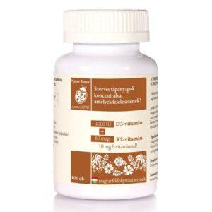 Natur Tanya Szerves D3+K2 vitamin tabletta
