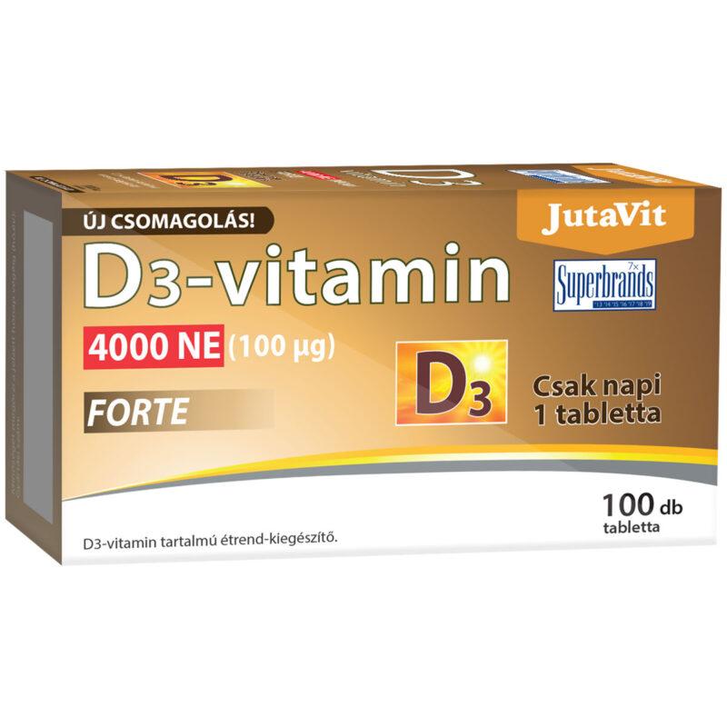 Jutavit D3-vitamin Forte 4000NE tabletta - 100db