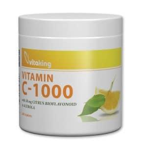 Vitaking C-vitamin 1000mg Bioflavonoid, acerola, csipkebogyó tabletta - 200db