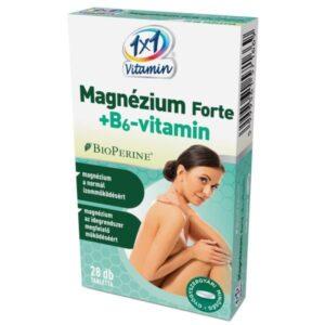 1x1 Vitamin Magnézium Forte + B6-vitamin BioPerinnel tabletta - 28db