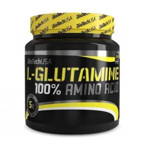 BioTech USA 100% L-Glutamine por - 240g