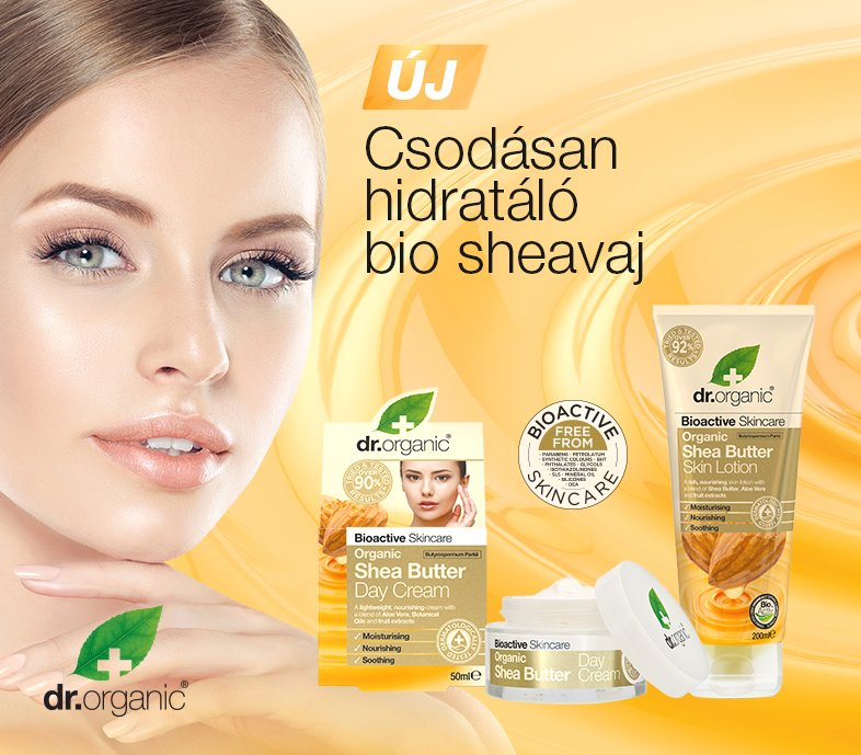 Dr. Organic Bio Shea vaj kozmetikumok
