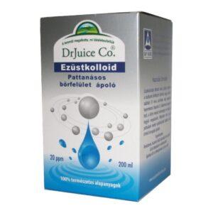 DrJuice Co. Ezüstkolloid pattanásos bőrfelület ápoló oldat - 200ml