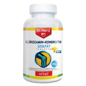 Dr. Herz Glükozamin-Kondroitin-szulfát+MSM tabletta - 90db
