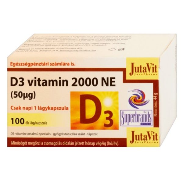 Jutavit D3-vitamin 2000NE lágyzselatin kapszula