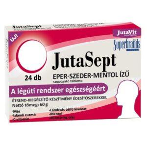 Jutavit Jutasept eper-szeder-mentol ízű szopogató tabletta