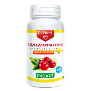 Dr. Herz Tőzegáfonya Forte + Aranyvessző filmtabletta - 60db