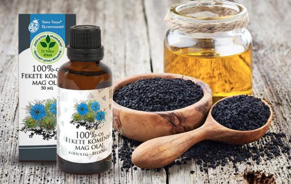 -50% kedvezmény a Dr. Natur étkek Fekete köménymag olajra