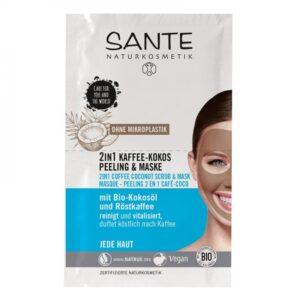 Sante 2 az 1-ben Kávés kókuszos radír