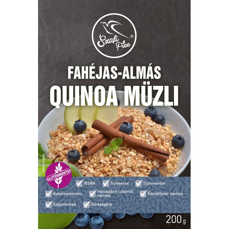 Szafi Free Quinoa müzli fehéjas-almás - 200g