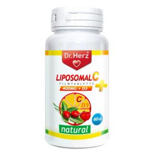 Dr. Herz Liposom C+D C-vitamin 800mg + D3-vitamin 800NE filmtabletta - 60db