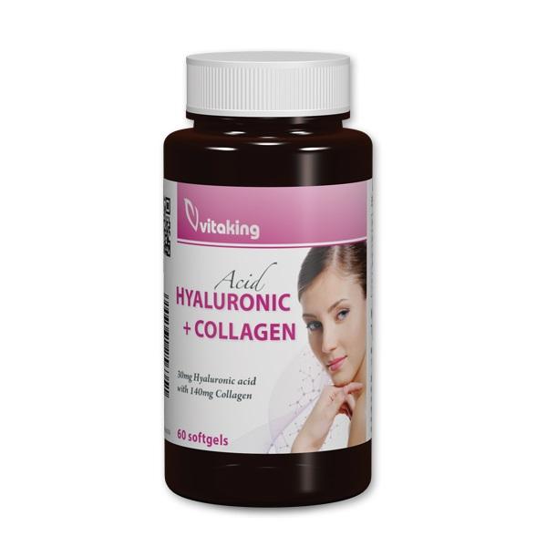 Vitaking Hialuronsav + kollagén komplex gélkapszula - 60db