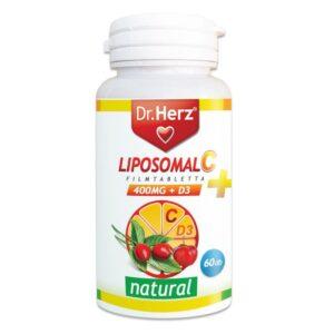 dr. herz liposom c+d3-vitamin filmtabletta – 60db