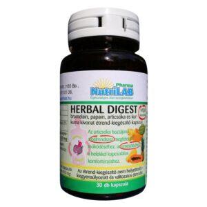 Nutrilab Herbal Digest kapszula - 30db
