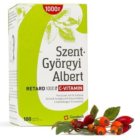 Goodwill Szent-Györgyi Albert Retard C-vitamin 1000mg tabletta – 100db