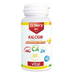 dr. herz kalcium+magnézium+cink+d3-vitamin tabletta – 90db