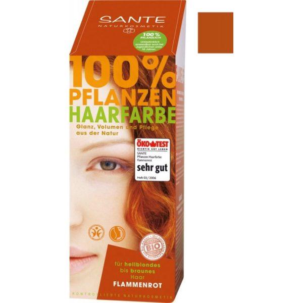 sante növényi hajfesték lángvörös – 100g
