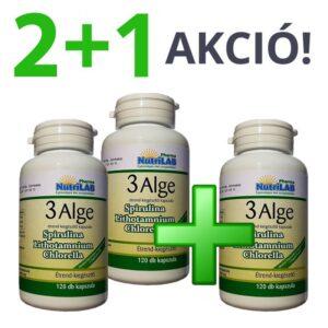 Nutrilab 3 Alge - Spirulina, Chlorella és Vörös alga kapszula 2+1 akció