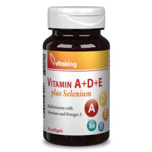 Vitaking a+d+e+szelen komplex gelkapszula - 30db
