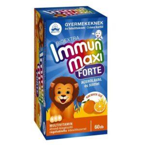Bioextra Immun Maxi Forte narancs ízű rágótabletta - 60db