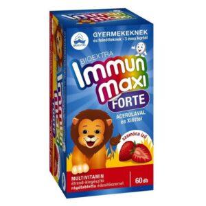 Bioextra Immun Maxi Forte szamóca ízű rágótabletta - 60db