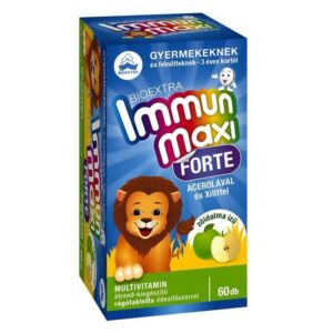 Bioextra Immun Maxi Forte zöldalma ízű rágótabletta - 60db