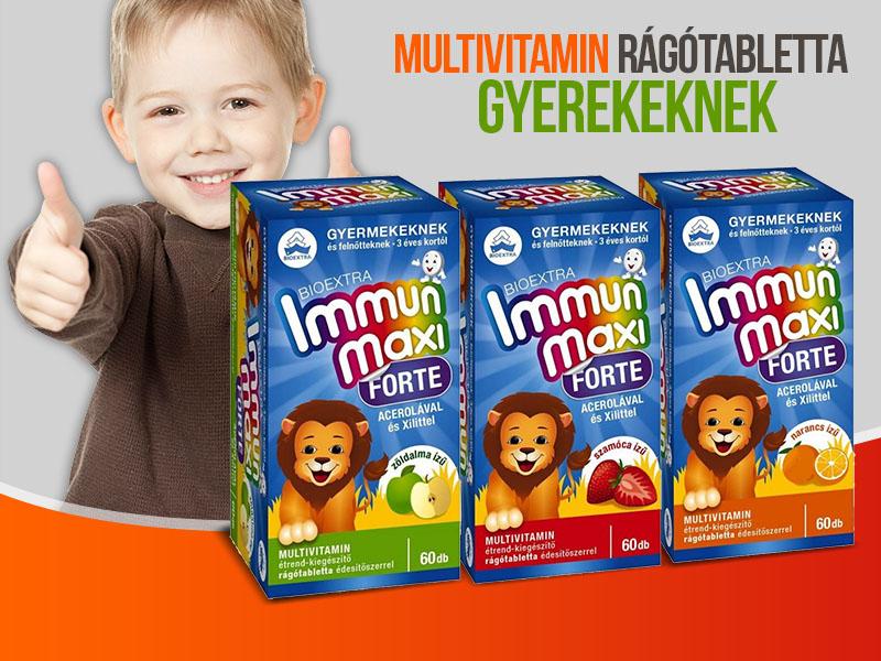 Bioextra Immun Maxi Forte multivitamin 3 féle ízben